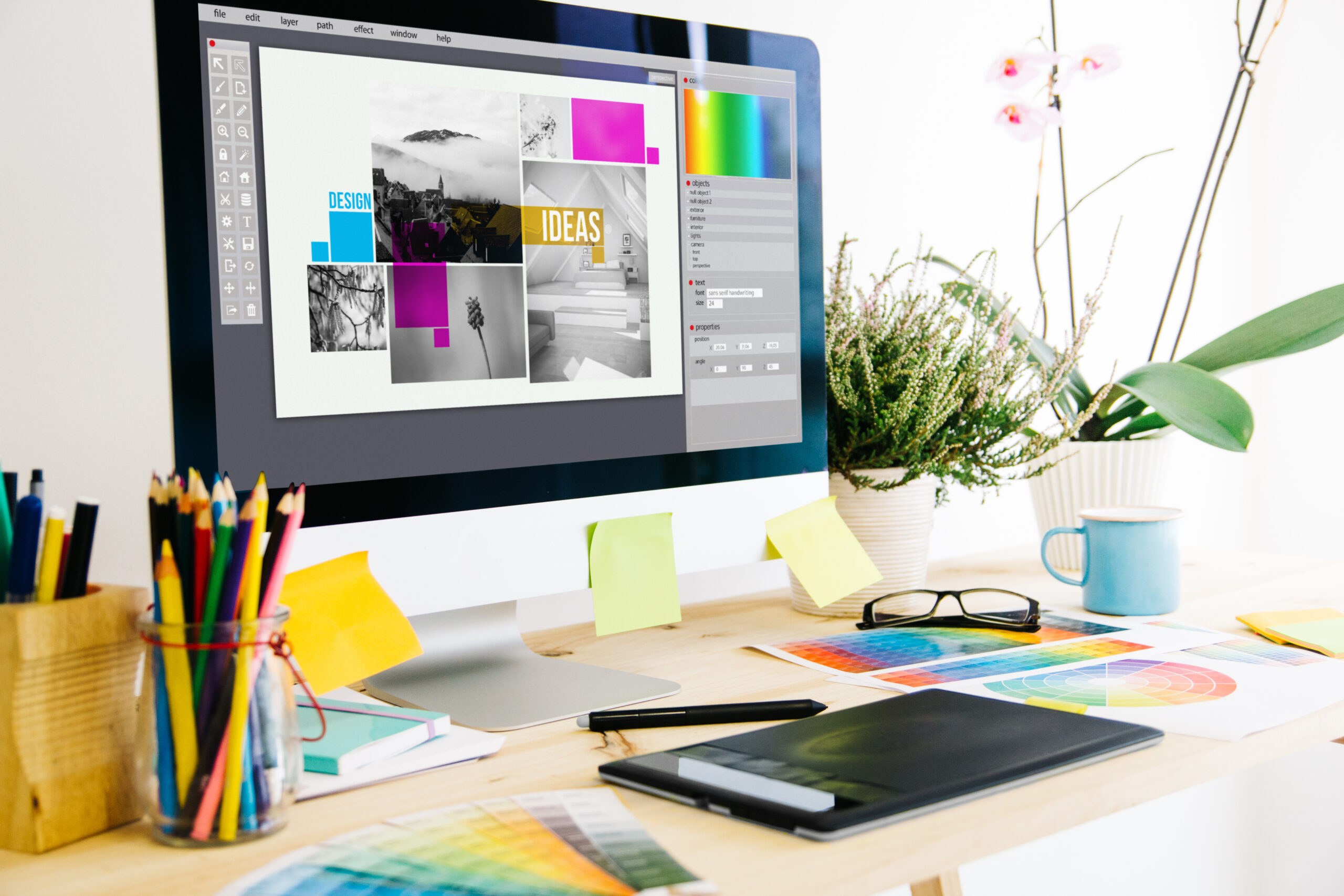 Graphic design studio